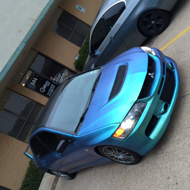 Garrett Parker from Eclipse Auto Body makes a Mitsubishi Blue Green Kameleon with our 4779BG.