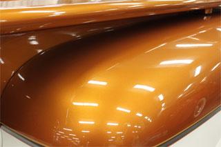 Orange Copper Kandy Pearls on Hood.