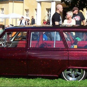 64 Nova Wagon with Fire Red Metal Flake