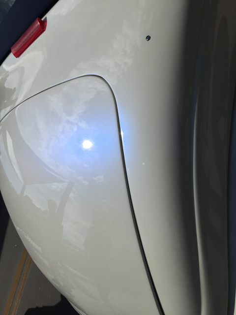 Blue Spectre Pearls ® on trunk lid.