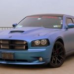 Queenz Dipped Charger in Kameleon Pearls Blue to Purple. Matte Finish Kustom Paint job.