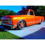 Blue Spectre Pearl on this orange Chevy Truck.