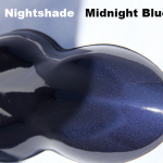 Midnight Blue Kandy Paint on a speed-shape.