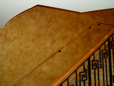 Bronze Copper Kandy Pearls over tan base latex used in Faux Finish Glaze.