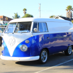 Royal Blue Kandy Pearls VW Micro Bus Van.