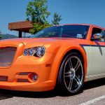 Gold and White Spectre pearl on a Hemi Chrysler 300