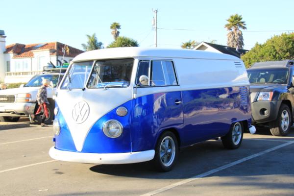 Royal Blue Kandy Pearls VW Micro Bus Van.