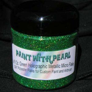 Green Holographic Metal Flake