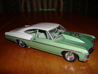 Apple Green Kandy Pearl and Silver Crystal used on model Impala.