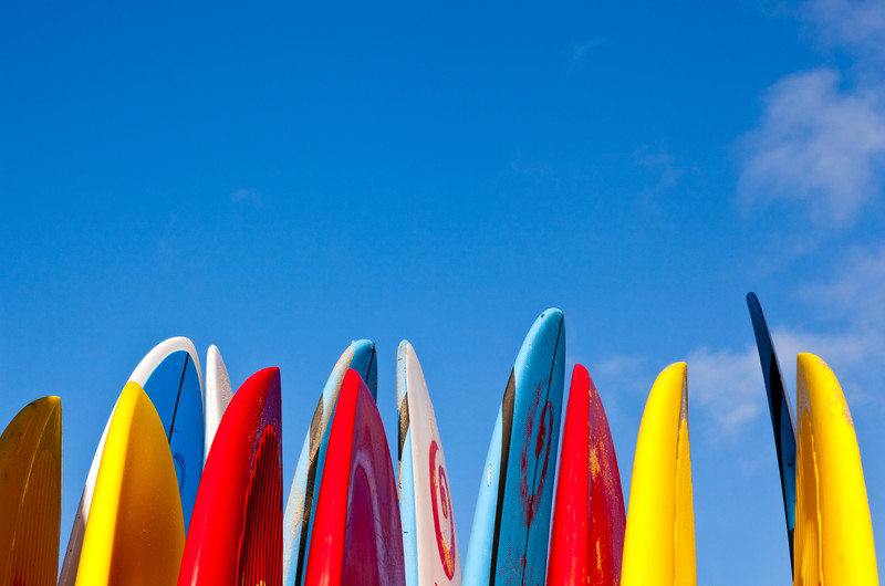 Surfboard and Kayak Builders in Hawaii use Paint with Pearl