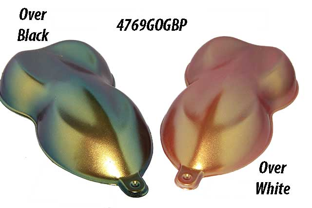 Gold Orange Green Blue Purple Kameleon Pearls for Kustom Paint and Powder coatings.
