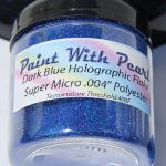 "4 Fl. Oz Jar of .004"" Blue Holographic Metal Flake for custom paint jobs."