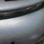 silver holographic bumper