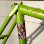 Gold Spectre Pearl on Lime Green base coat making this bicycle stand out above the rest.