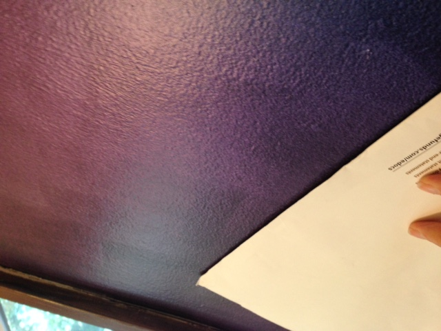 "Kameleon Faux Finish wall from the ""Purple Angle""."