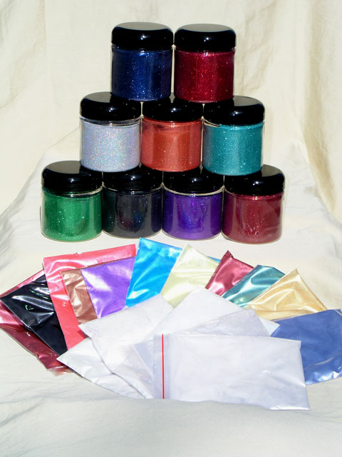 Mini Pro Painter Pack 25 includes all types of Pearl Pigments and flakes.
