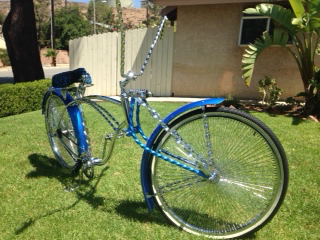 Crazy Kustom Bike painted with Royal Blue and Sapphire Blue Kandy.
