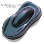 Starry Night Kustom Paint Teal Blue Purple super dark midnight chameleon over a black base coat.