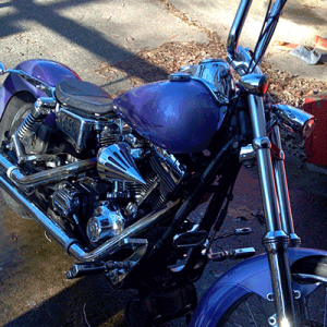 Using Purple Kandy on a Chopper takes guts, but this guy pulled it off.