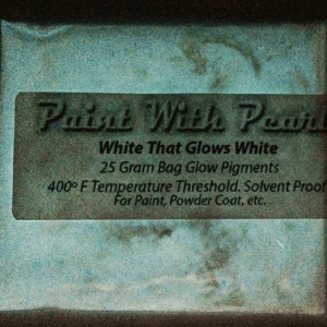 White to White Glow In The Dark Paint Pigments - Long Lasting Glow