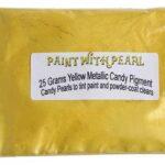 25 Gram Bag of Yellow Metallic Kandy Paint Pearls.